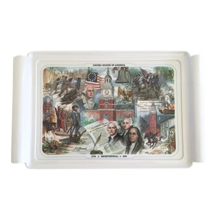Vintage United States of America 1776 - 1976 Bicentennial Themed Brookpark 1516 Tray For Sale