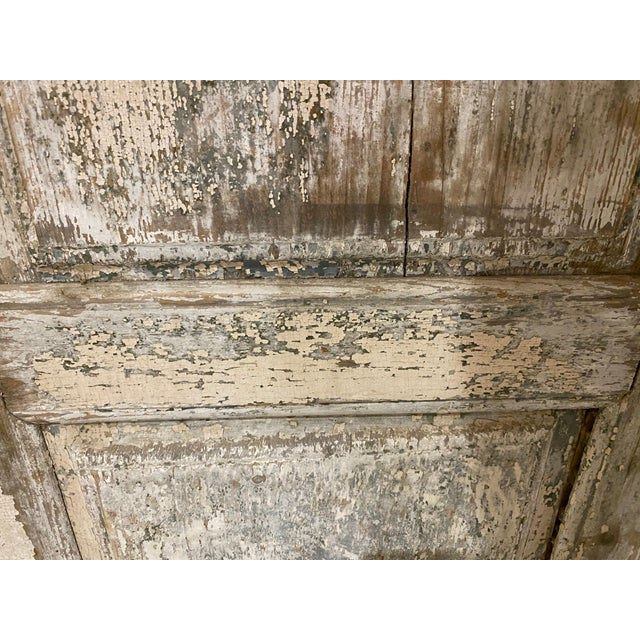 19th Century French Antique Chippy Paint Doors With Hardware - a Pair For Sale - Image 4 of 7