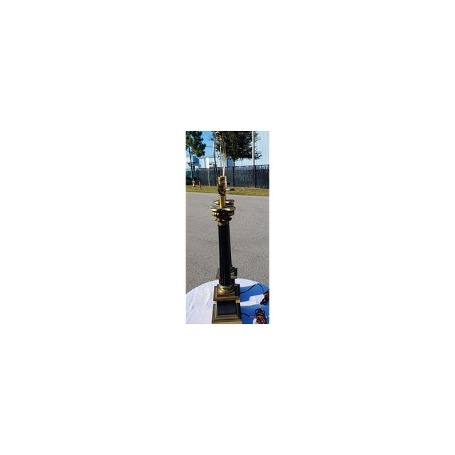 Mid Century Modern Black and Gold Metal Lamps - a Pair For Sale In Orlando - Image 6 of 8