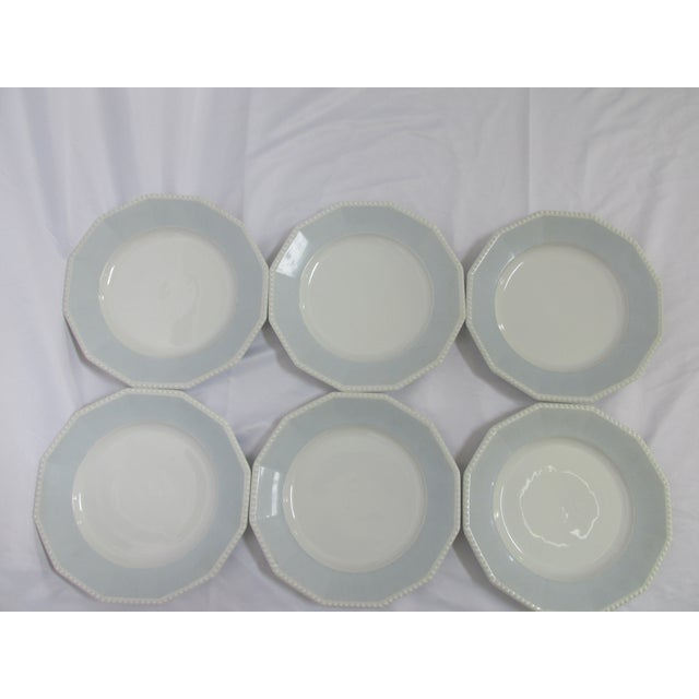 Perl Blue by Nymphenburg Dinner Plates - Set of 6 - Image 3 of 6