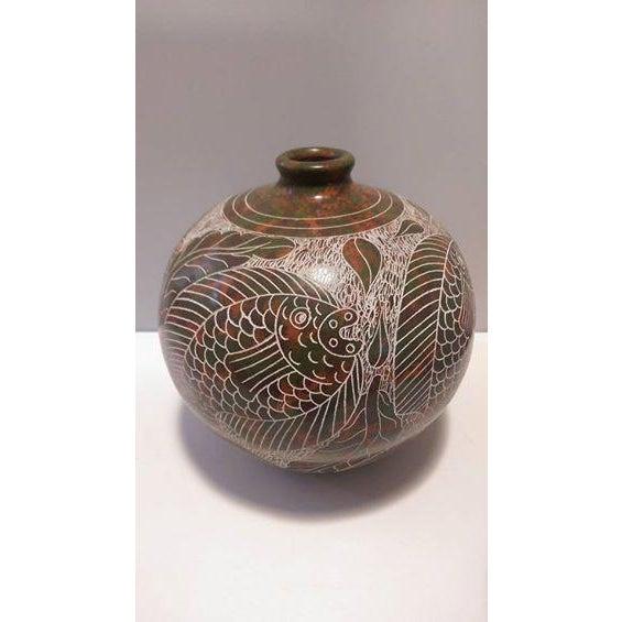 Nicaraguan Artisan Pottery Vase - Image 2 of 7