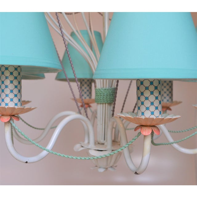 1960s 1960s Vintage Italian Tole Hot Air Balloon Chandelier For Sale - Image 5 of 12