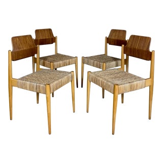 1950s Egon Eiermann Church Chairs- Set of 4 For Sale