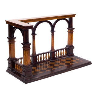 Early 20th Century Decorative Architectural Balustrade Model / Room Assessory. Grant Tour. For Sale