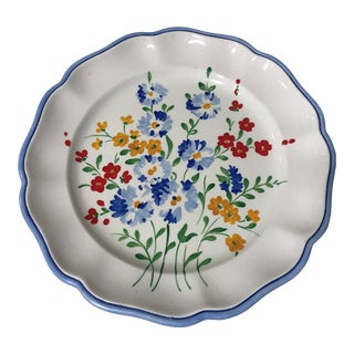 Late 20th Century Hand Painted Italian Plates, - Set of 18 For Sale