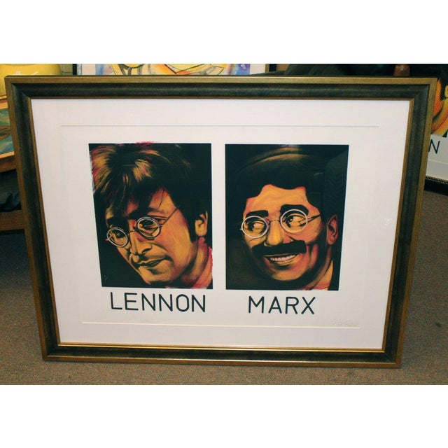 John Lennon and Groucho Marx Painting on Paper by Ron English For Sale - Image 10 of 10