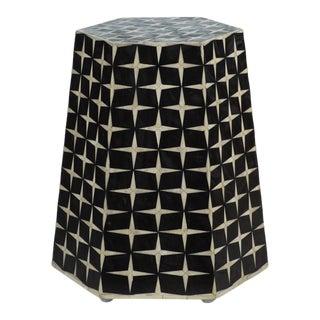 Kenneth Ludwig Chicago Kasbah Bone Inlay Hexagon Stool For Sale