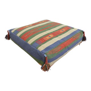Floor Cushion Sitting Pillow Decorative Turkish Hand Woven Rug - 38″ X 41″