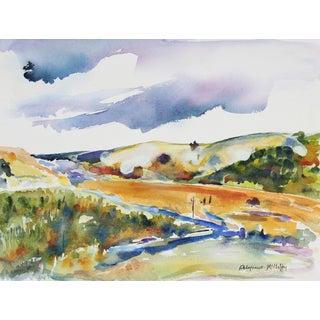 Late 20th Century Pacifica, California Watercolor For Sale