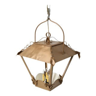 Vintage French Lantern Restored With American Sockets For Sale