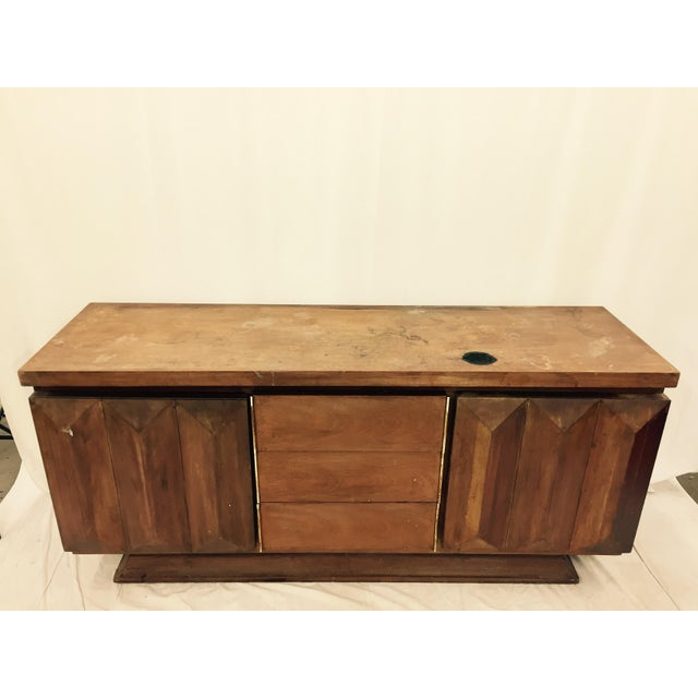 Bassett Furniture Mid-Century Modern Brutalist Kagan Style Dresser For Sale - Image 4 of 11