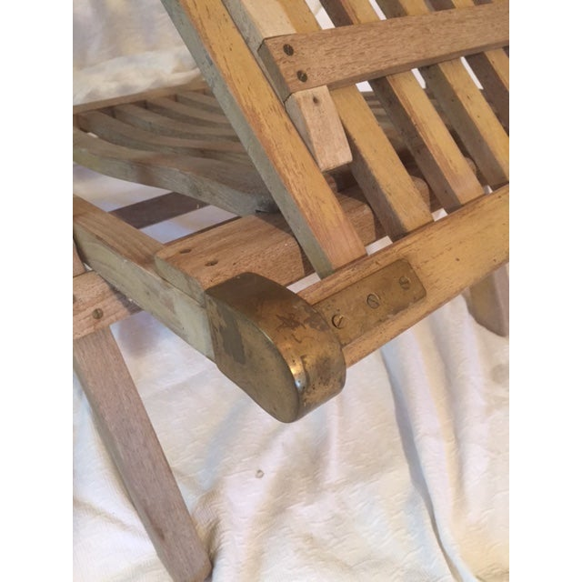 Vintage RMS Queen Elizabeth Cruise Line Deck Chair - Image 7 of 11