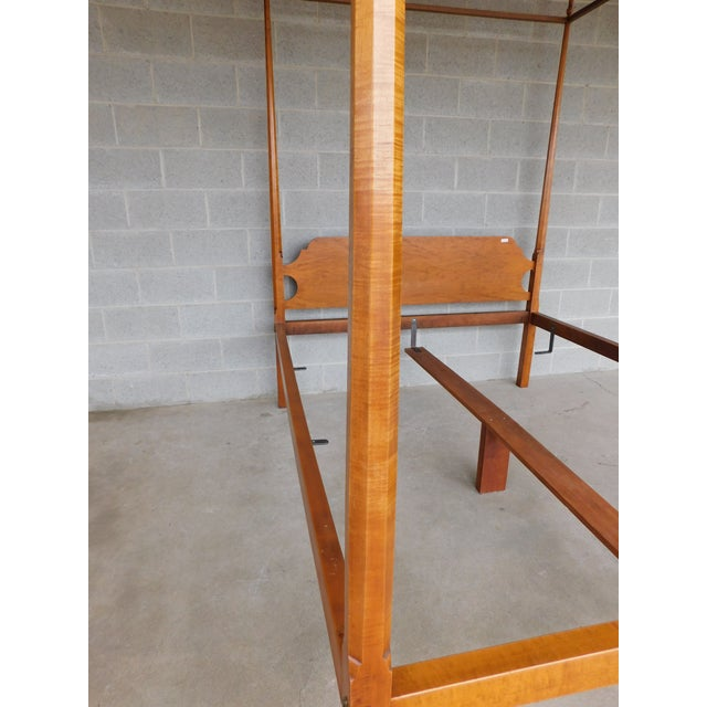 Eldred Wheeler Shaker Style Tiger Maple Queen Size Tester Poster Bed For Sale In Philadelphia - Image 6 of 13