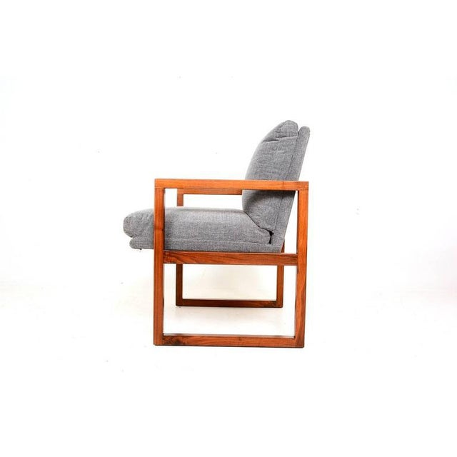 Mid-Century Modern Pair of Mid-Century Modern Walnut Armchairs For Sale - Image 3 of 9