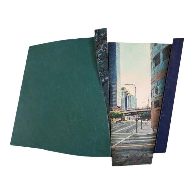 """Bonaventura Hotel Downtown LA"" Original Oil Painting by Steve Metzger For Sale"
