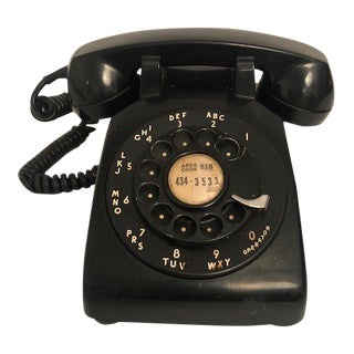 Mid-Century Black Rotary Telephone For Sale