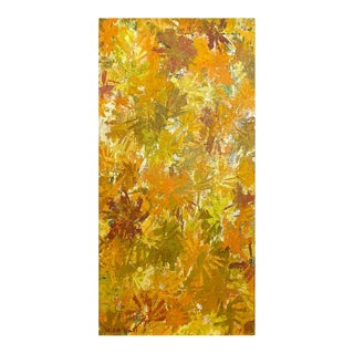 """Helena Willi """"Autumn"""", Expressionist Flora Oil Painting, C. 1960 For Sale"""