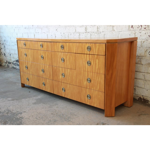 Art Deco Charles Pfister for Baker Primavera Ten-Drawer Long Dresser For Sale - Image 3 of 11