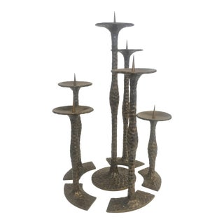 Modernist Style Candleholders - Set of 6 For Sale