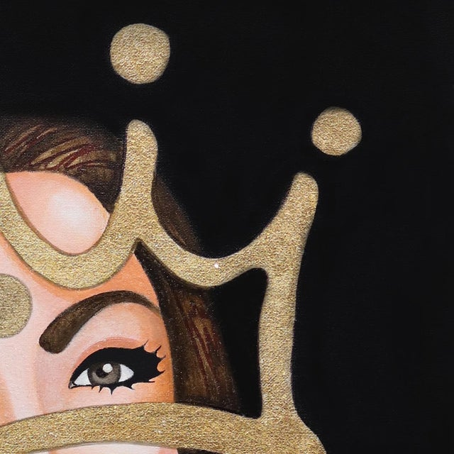 Contemporary ''My Lady'' Contemporary Mixed-Media Portrait Painting by Brian Smith For Sale - Image 3 of 9
