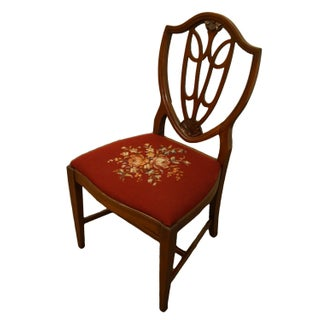1960's Vintage Antique Mahogany Duncan Phyfe Shield Back Dining Side Chair Preview