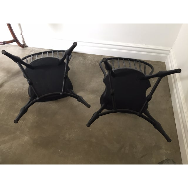 19th Century American Black New England Windsor Chairs - A Pair - Image 8 of 8
