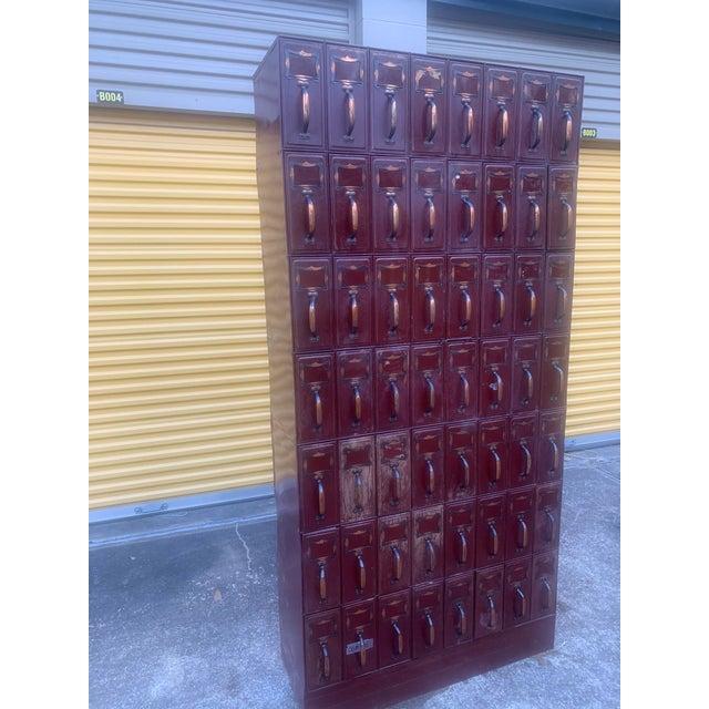 Vintage Industrial File Cabinet For Sale - Image 10 of 13