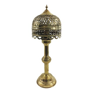 French Brass Oil Lamp For Sale