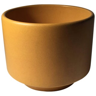Vintage Gainey Ceramics Planter Jardiniere in a Desirable Butternut Squash Color For Sale