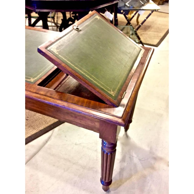 British Colonial Regency or William IV Writing Table/Desk with Book Stand For Sale - Image 3 of 10