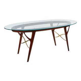 Striking Oval Table by Ico Parisi For Sale