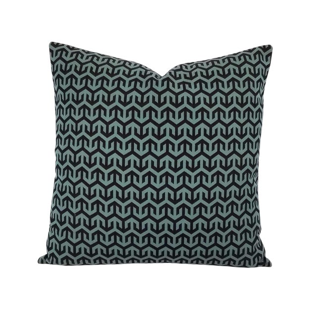 Holly Hunt Anchors Aweigh Turqs and Caicos Accent Pillow Cover For Sale