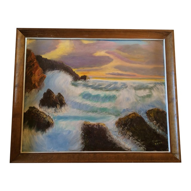 """Sunset on the Ocean"" Painting - Image 1 of 5"