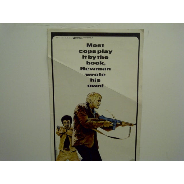 """Mid-Century Modern """"Newman's Law"""" Vintage Movie Poster 1974 For Sale - Image 3 of 5"""