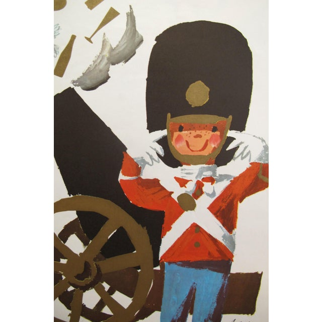 1960s Original Vintage Danish Travel Poster, Denmark (National Guard) Small  Size