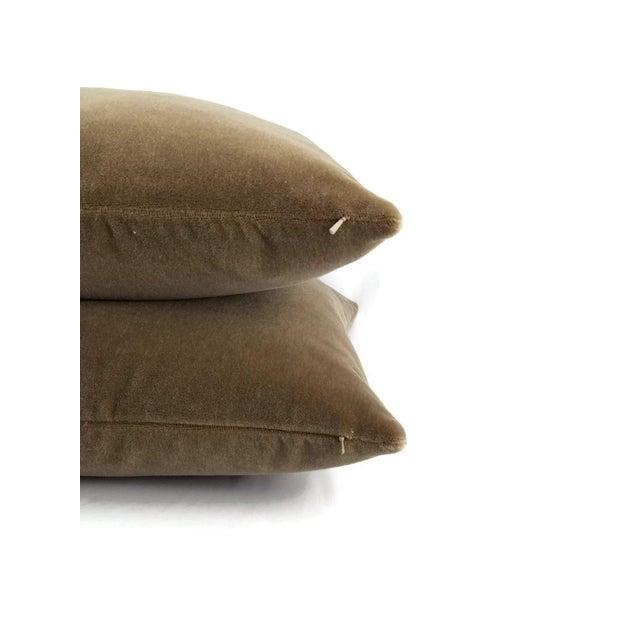 S. Harris Melrose Mohair Velvet in Brown Pillow Cover For Sale - Image 4 of 5