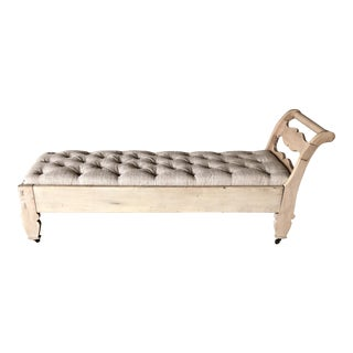 Antique Pine Chaise Lounge For Sale