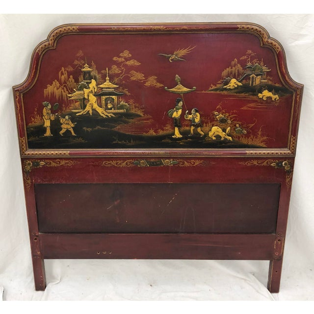 Early 20th Century Antique Chinoiserie Bed For Sale - Image 5 of 13
