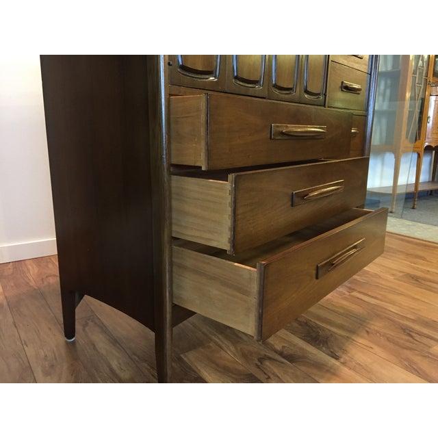 Brown Midcentury Modern Broyhill Premier Dresser For Sale - Image 8 of 11