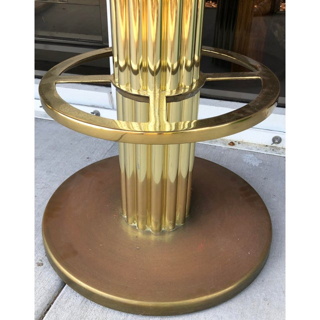 Brass Design For Leisure Brass Bar Stools - Set of 5 For Sale - Image 7 of 9