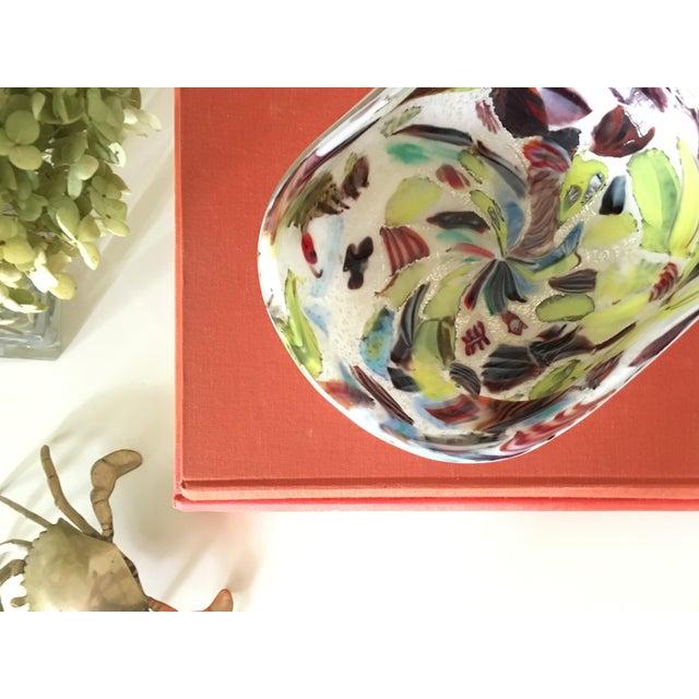 Italian Vintage A.Ve.M. Multicolored Millefiori Venetian Bowl For Sale - Image 3 of 9