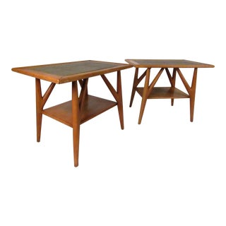 Vintage Modern Jack Van Der Molen Designed Side Tables For Sale