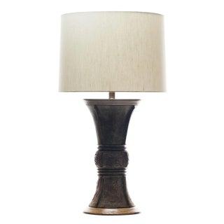 Lawrence & Scott Freya Table Lamp in Verdigris Bronze For Sale