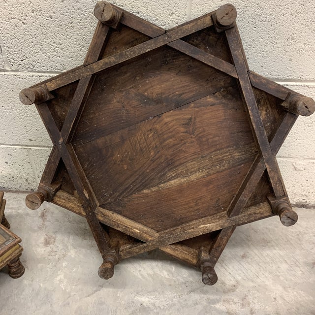 Vintage Moroccan Star Stacking Tables For Sale - Image 11 of 12