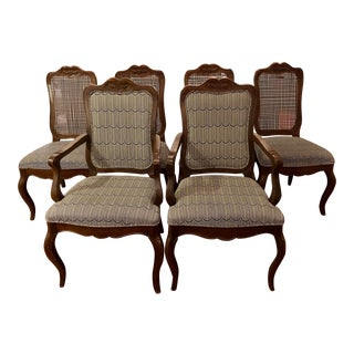 Late 20th Century Vintage French Provincial Style Dining Chairs- Set of 6 For Sale