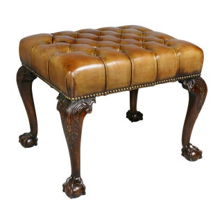 George III Style Mahogany Bench For Sale