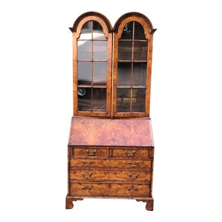 Antique English Burlwood George III Secretary Desk - Hideaway House Beverly Hills For Sale