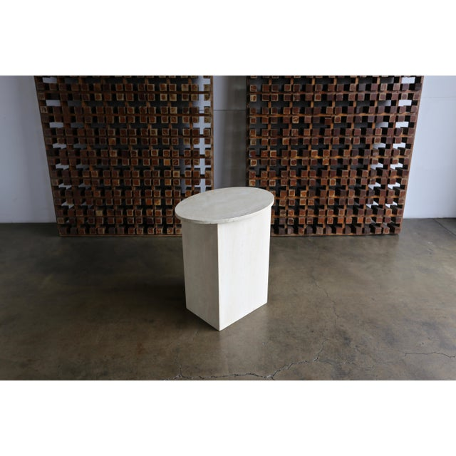 Travertine Pedestal Circa 1975 For Sale In Los Angeles - Image 6 of 8