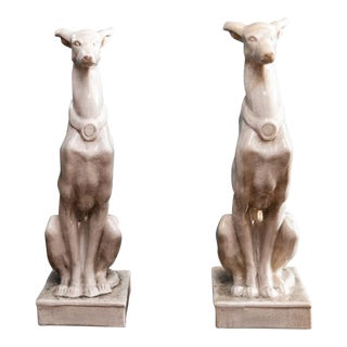 Vintage Greyhound Statues-a Pair For Sale
