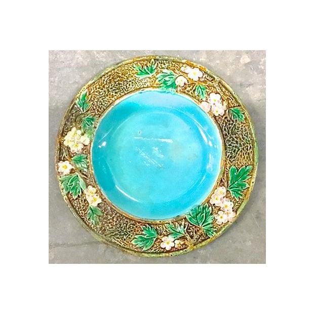 Ceramic Antique George Jones Majolica Muffin Dish For Sale - Image 7 of 13